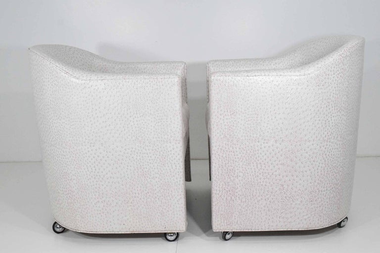 American Pair of Club Chairs by Preview Furniture Company For Sale