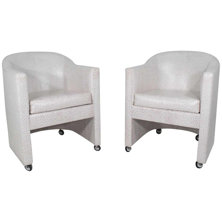 Pair of Club Chairs by Preview Furniture Company For Sale