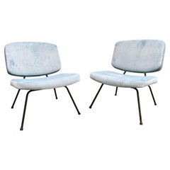 Pair of CM190 Slipper Chairs by Pierre Paulin for Thonet, France, 1950s