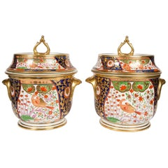 Pair of Coalport English Imari Ice Pails Made in England circa 1800-1805
