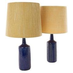 Pair of Cobalt Blue DL/30 Table Lamps by Linnemann-Schmidt for Palshus, 1960s