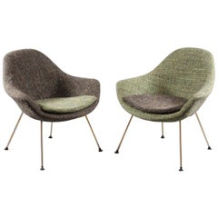 Pair of Cocktail Shell Chairs, Italy, 1950