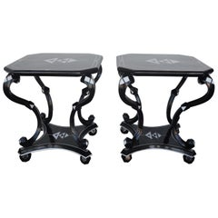 Pair of Coconut Side Tables