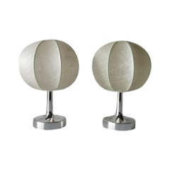 Pair of Cocoon Table Lamps by Goldkant, 1970s, Germany