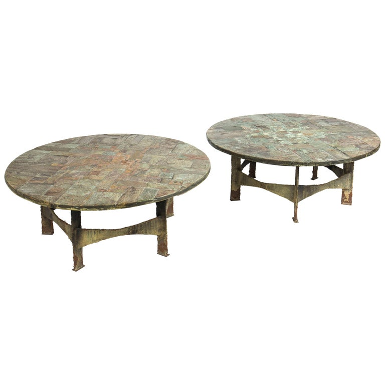 Pair of Coffee Tables by Pia Manu For Sale