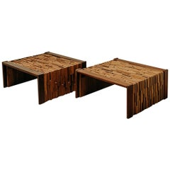 Pair of Coffee Tables, Percival Lafer, Bresil