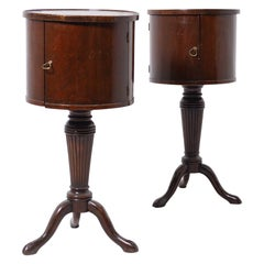 Pair of Coffee Tables Victorian English in Wood and Brass, Fine, 1890