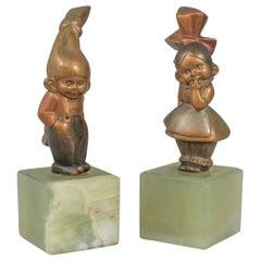 Pair of Cold Painted Vienna Bronze Kewpies, circa 1920s