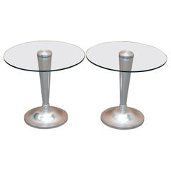 Pair of Colombostile Side Lamp Tables by C Rampazzi Part of La Nuova Tradizione