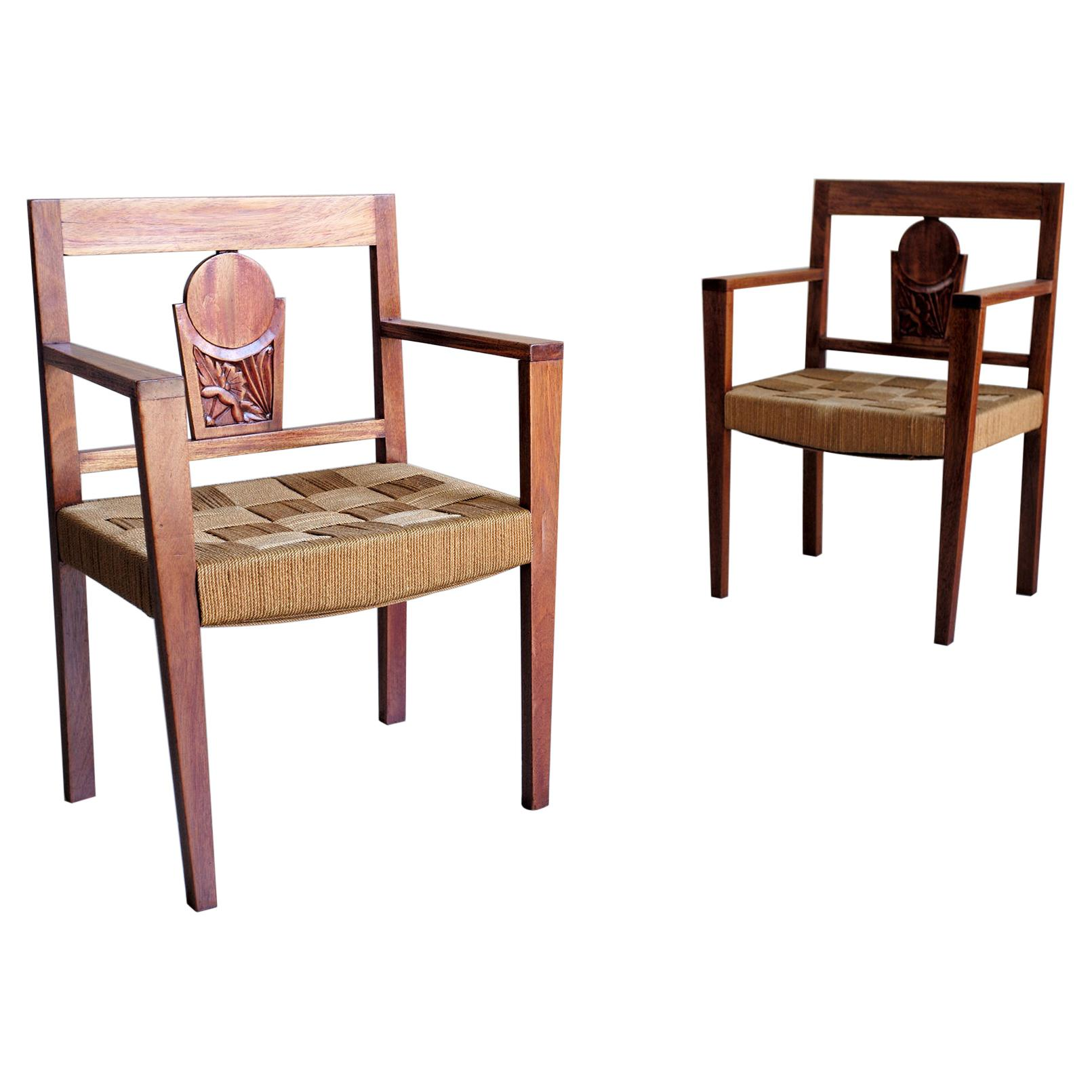 Pair of Colonial Armchairs, 1950