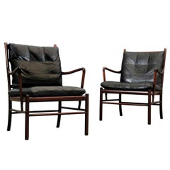 Pair of Colonial Armchairs Model PJ149 by Ole Wanscher for Poul Jeppesen, Danish