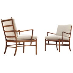 Pair of Colonial Chairs by Ole Wanscher in Rosewood