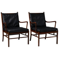 Pair of Colonial Chairs Model PJ 149 Designed by Ole Wanscher for Poul Jeppesen