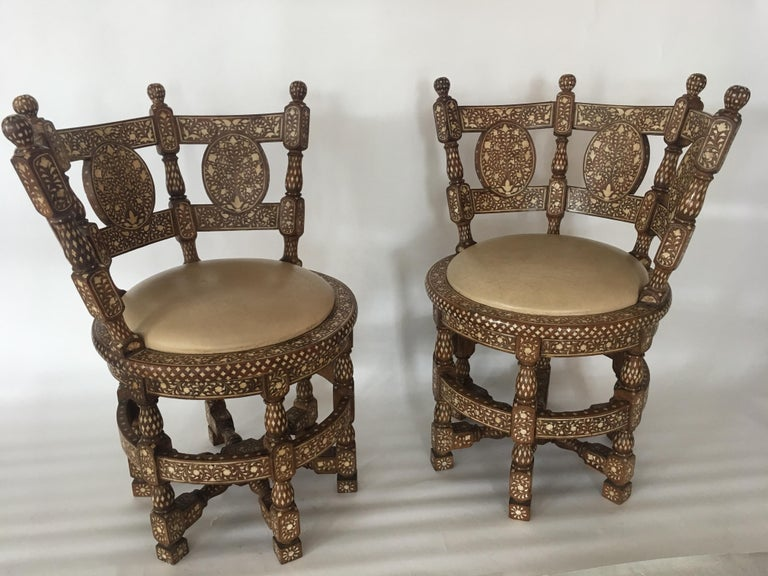 Unknown Pair of Colonial Lounge Chairs For Sale
