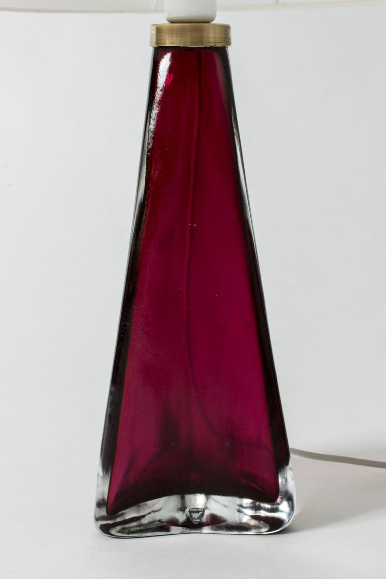 Mid-20th Century Pair of Colored Glass Lamps Carl Fagerlund for Orrefors, Sweden, 1960s For Sale