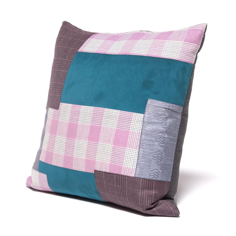 Pair of Colorful Japanese Suiting Pillows For Sale 2
