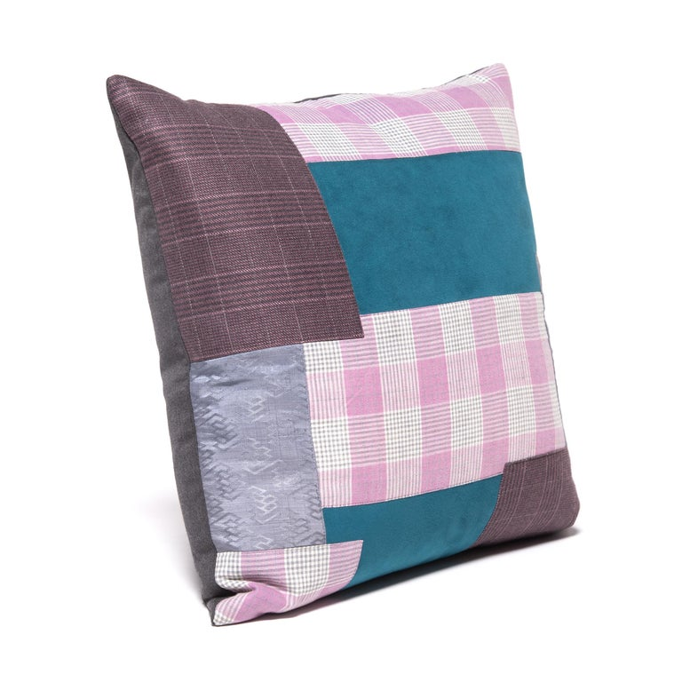 Pair of Colorful Japanese Suiting Pillows For Sale 4