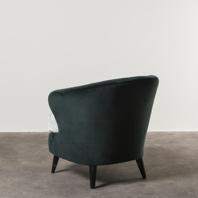 Pair of Concha Armchairs by Joaquim Tenreiro In Good Condition For Sale In Milan, IT