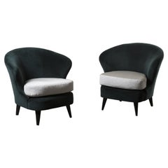 Pair of Concha Armchairs by Joaquim Tenreiro