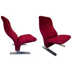 Pair of Concorde Armchairs by Pierre Paulin for Artifort, Netherland, 1960s