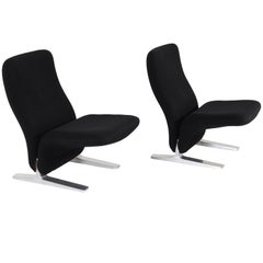 "Pair of ""Concorde"" Model F780 Lounge Chairs by Pierre Paulin for Artifort, 1970s"