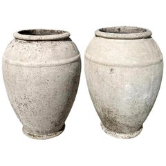 Pair of Concrete Urns by Willy Guhl
