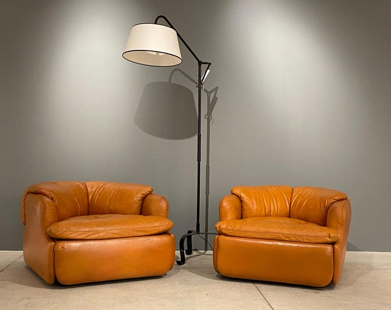 Mid-Century Modern Pair of Confidential Armchairs For Sale