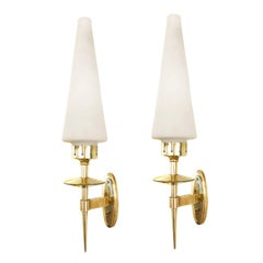 Pair of Conical Midcentury Sconces