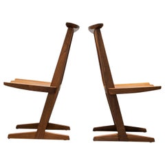 Pair of Conoid Chairs by George Nakashima, 1982