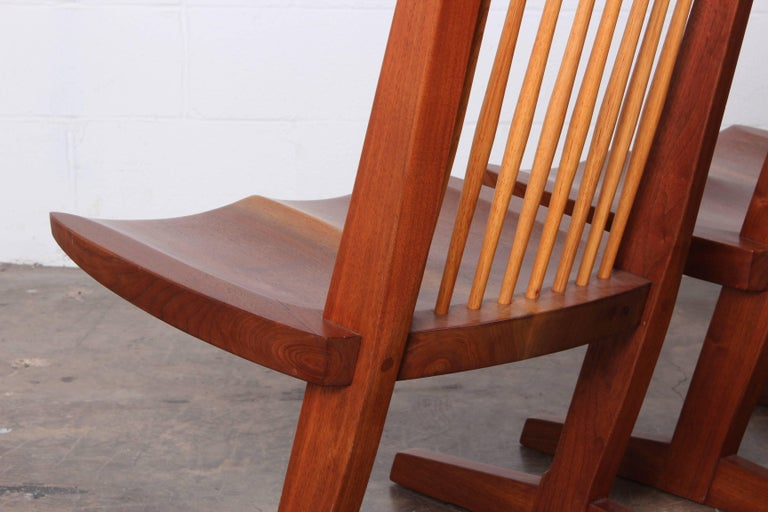 Pair of Conoid Lounge Chairs by George Nakashima For Sale 3