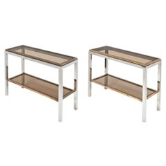 Pair of Console Tables by Willy Rizzo