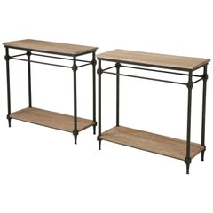 Pair of Console Tables from the Old Plank Collection