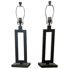 Pair of Contemporary Black Lamps