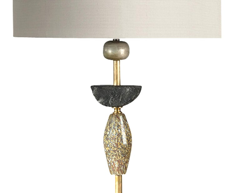 Cast Pair of Contemporary European Glass Sculptural Table Lamps by Margit Wittig For Sale