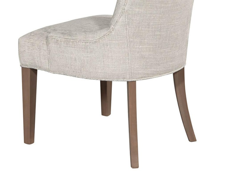 Pair of Contemporary High Back Accent Chairs For Sale 4