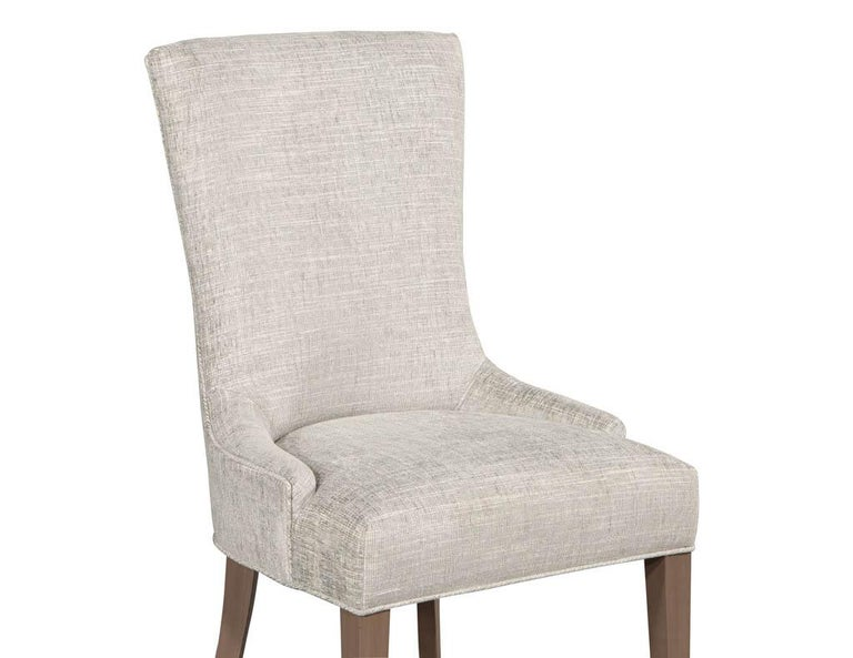 Pair of Contemporary High Back Accent Chairs For Sale 5