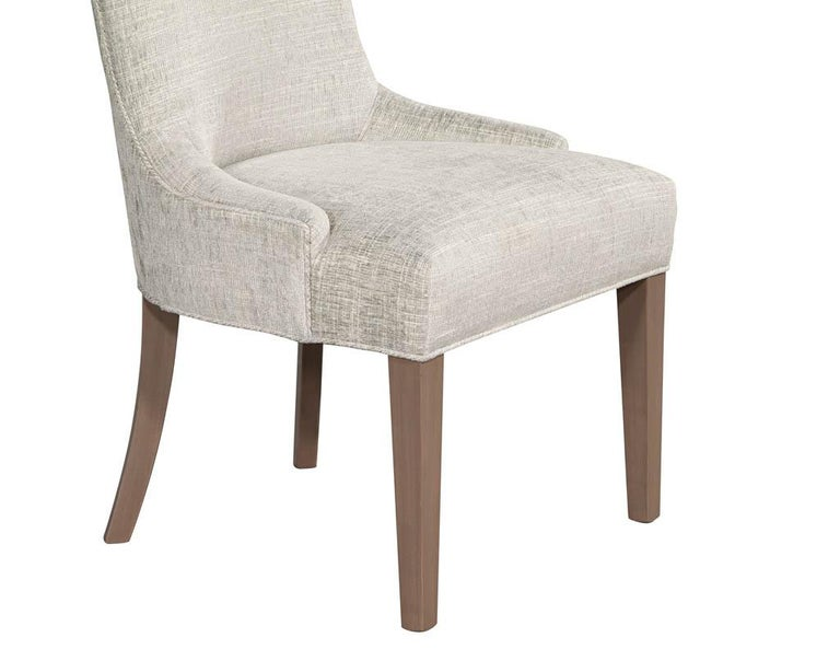Pair of Contemporary High Back Accent Chairs For Sale 6