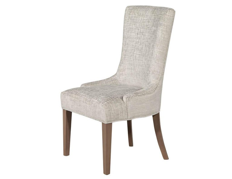 Canadian Pair of Contemporary High Back Accent Chairs For Sale
