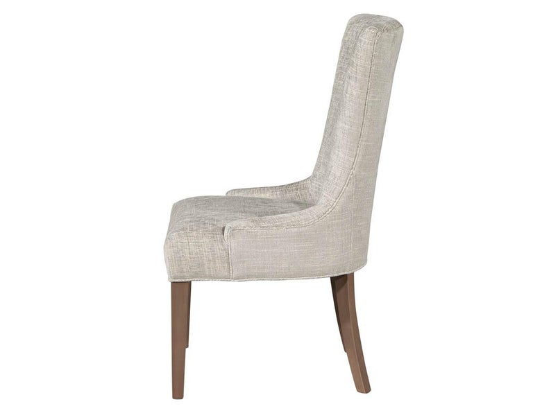 Pair of Contemporary High Back Accent Chairs In New Condition For Sale In North York, ON
