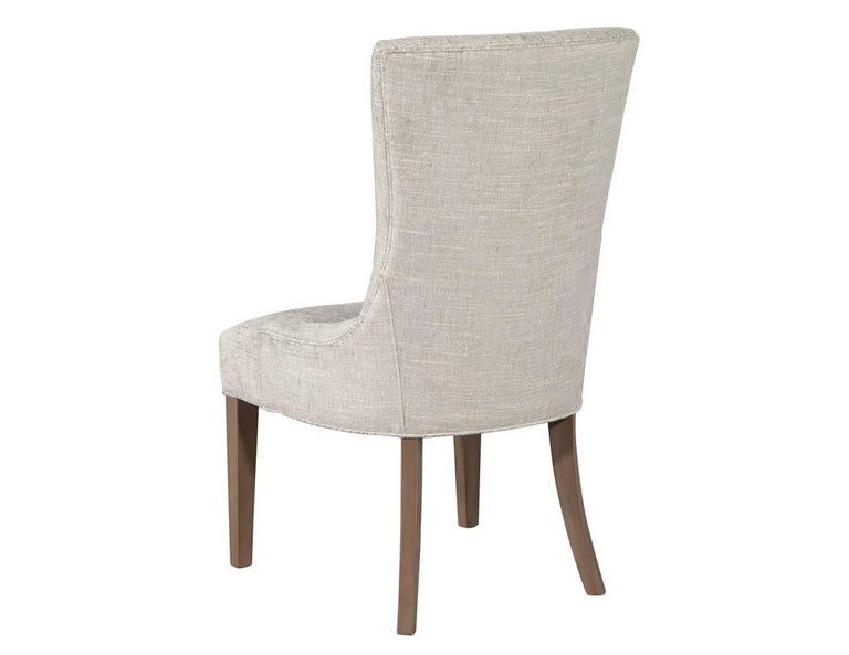 Pair of Contemporary High Back Accent Chairs For Sale 1