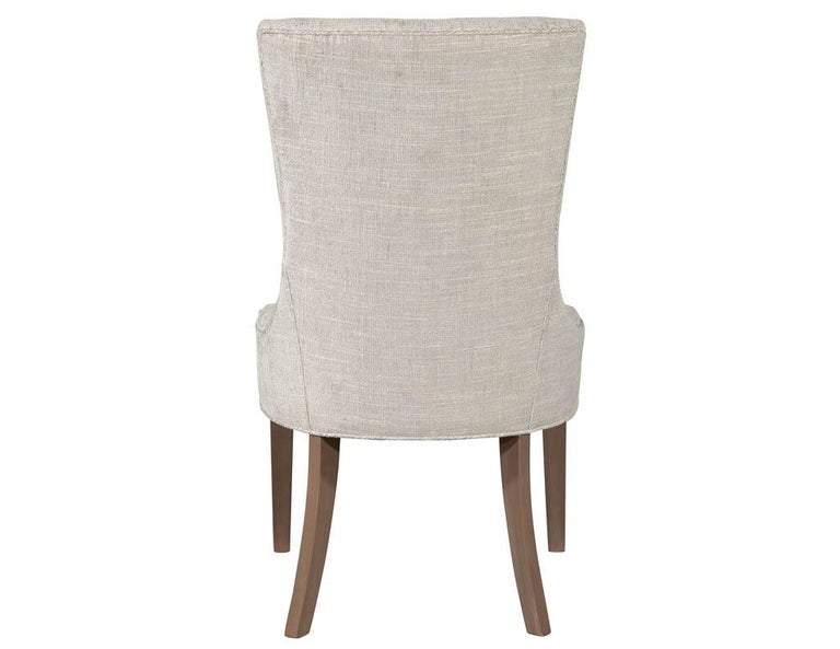 Pair of Contemporary High Back Accent Chairs For Sale 2