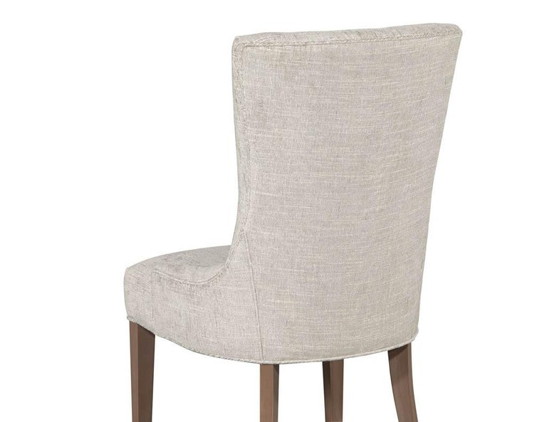 Pair of Contemporary High Back Accent Chairs For Sale 3