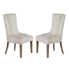 Pair of Contemporary High Back Accent Chairs
