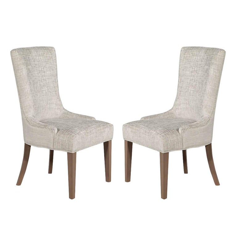 Pair of Contemporary High Back Accent Chairs For Sale