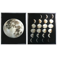 Pair of Contemporary Images of the Moon