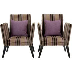 Pair of Contemporary Lounge Armchairs