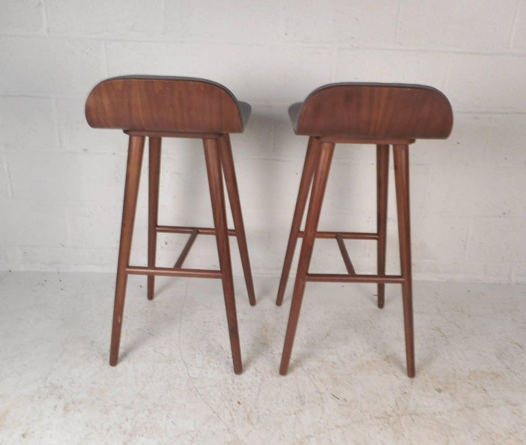 Pair Of Contemporary Modern Bar Stools For Sale At 1stdibs
