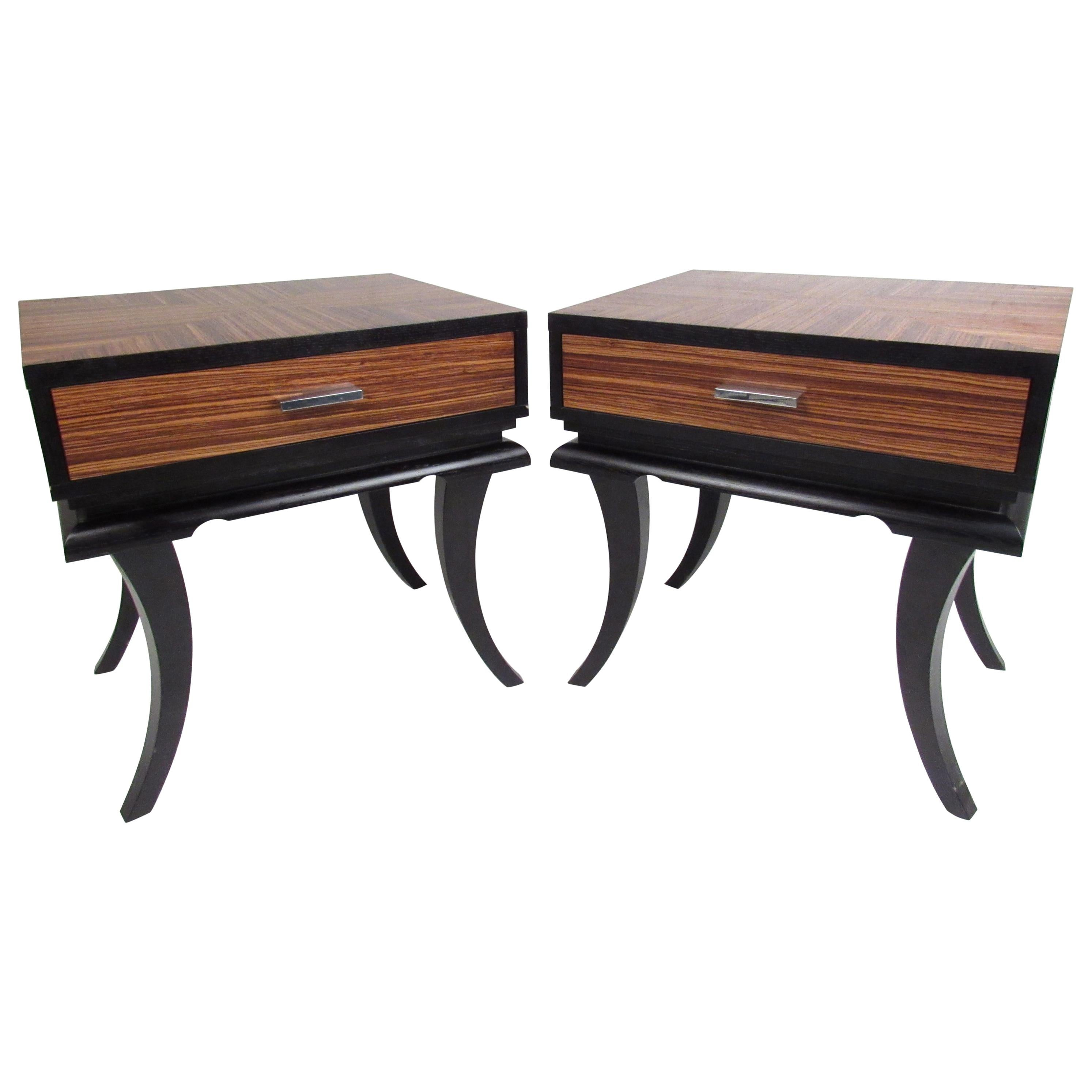 Pair of Contemporary Modern Nightstands