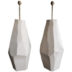 Pair of Contemporary Sculpted Ceramic Floor Lamps