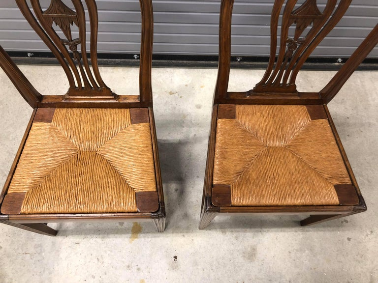 Pair of Continental 19th Century Chinoiserie Side Chairs For Sale 1